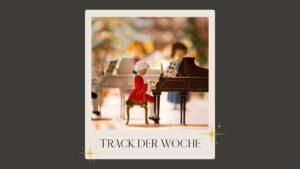 Polaroid auf grauem Hintergrund: Mozart Playmobil Figur
