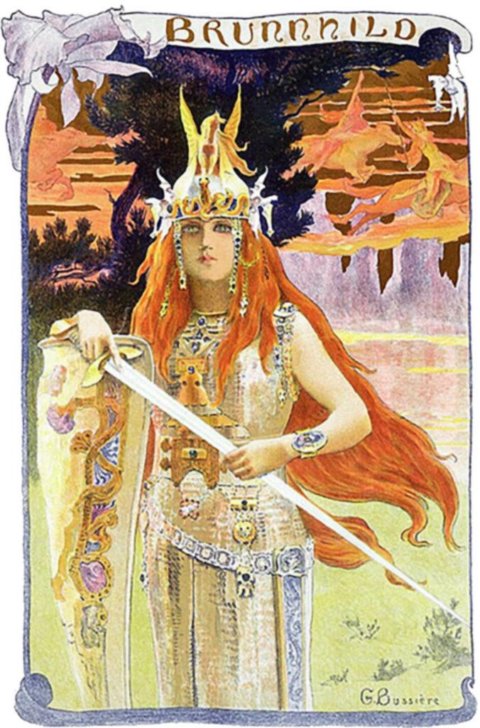 Ein Gemälde von Brunhild,  Gaston Bussière 1897
