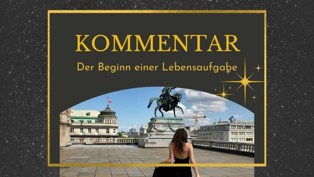 Titelbild: Kommentar in goldener Schrift auf grauem Hintergrund